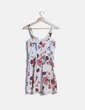 Vestido blanco print floral YES MISS