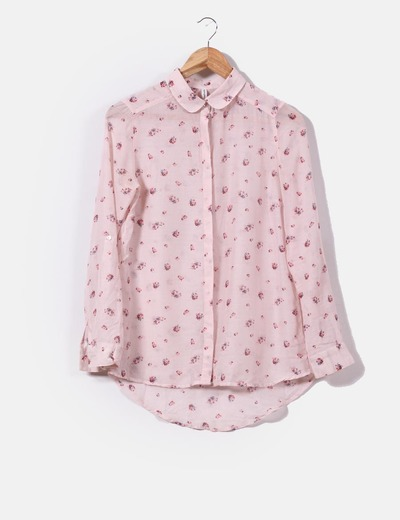 diseño superior el precio más baratas Descubrir Camisa rosa palo print floral