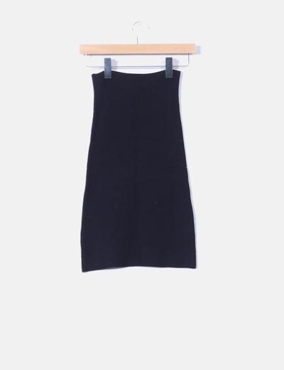812ca11aa7 NoName Falda de tubo elástica negra texturizada (descuento 84%) - Micolet