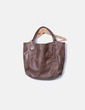 Bolso shopper marrón combinado Dayaday