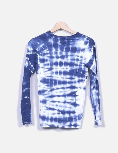 Camiseta de punto efecto desgastado