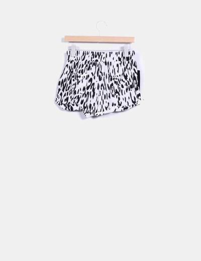 Shorts combinado terciopelo