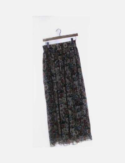 Maxi falda gasa estampado floral
