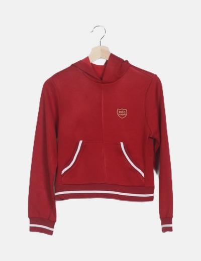 Sudadera roja capucha
