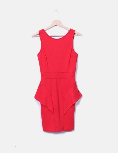 Vestido rojo tirantes Stradivarius