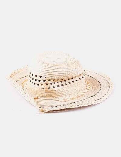 Sombrero beige de paja