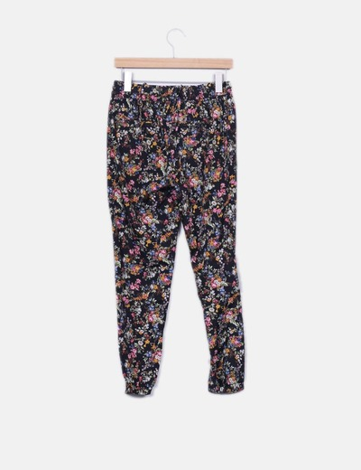Pantalon baggy floral