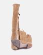 Bota alta camel con flecos NoName