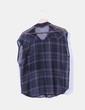 Blusa de cuadros semitrasnparente Bershka