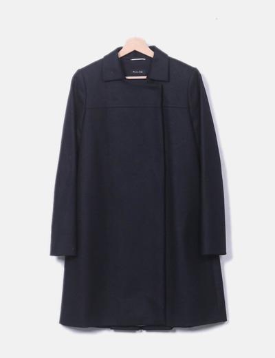 Abrigo negro solapa