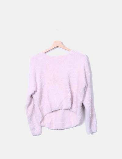 Jersey pelo rosa pastel Bershka