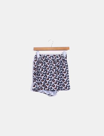 Shorts fluido estampado