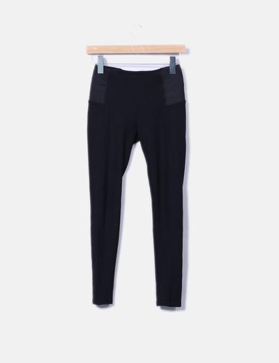 Legging negro combinado Zara