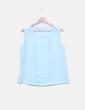 Blusa azul clara manga sisa Suiteblanco
