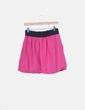 Falda rosa con cintura elastica Zara
