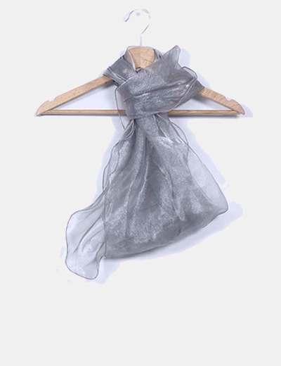 Pañuelo semitransparente plateado NoName