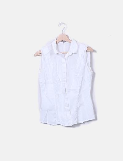 Camisa blanca sn mangas Uterqüe