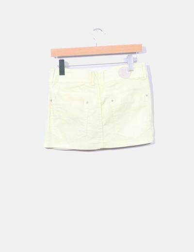 Falda mini amarilla