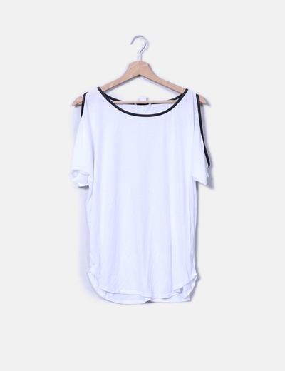 Camiseta con hombros descubiertos Suiteblanco