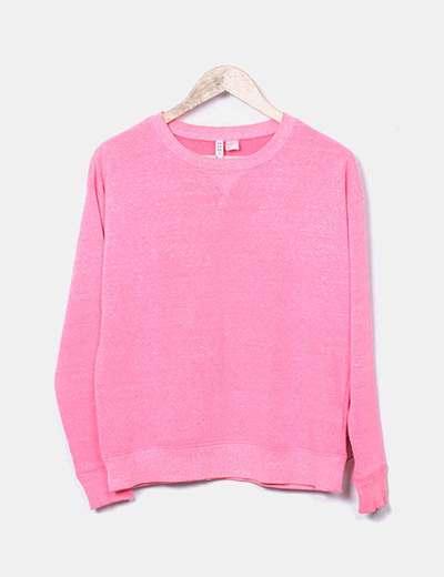 Sweat-shirt rose oversize H&M