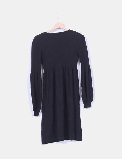 Vestido negro de punto