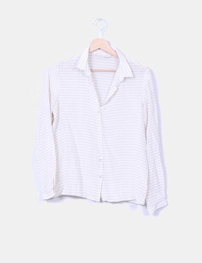 Blusa beige de rayas Zara