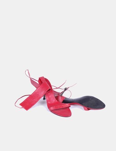 Sandalias pulsera rojas