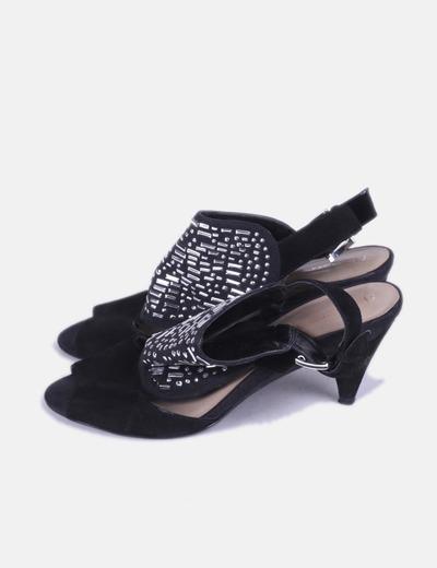 super service magasiner pour véritable charme de coût Sandales noires à clous