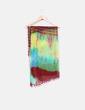 Foulard indio de seda multicolor con borlas NoName