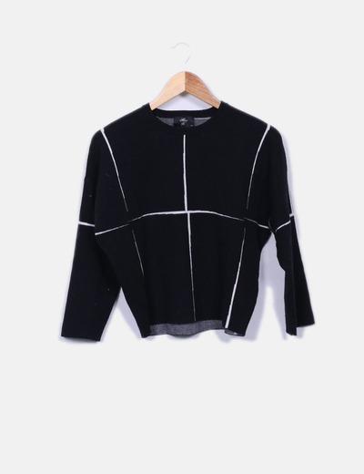 Pull noir tricot Miss K