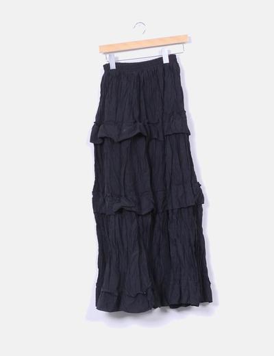 Maxi falda negra con volantes  BDBA