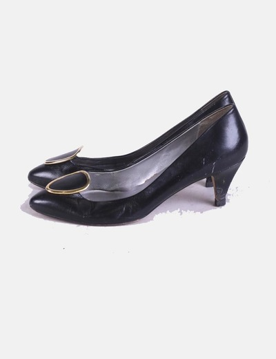 Zapatos heels negros broche