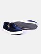 Zapatilla azul velvet con cremallera Gioseppo