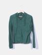 Camisa verde print moscas Naf Naf