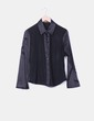 Camisa negra combinada Holly Collection