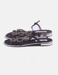 Sandalia negra con strass Xti