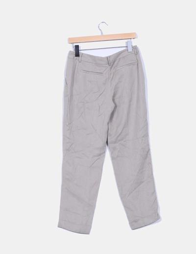 Pantalon baggy taupe