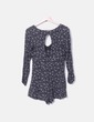 Mono fluido negro floral Pull&Bear