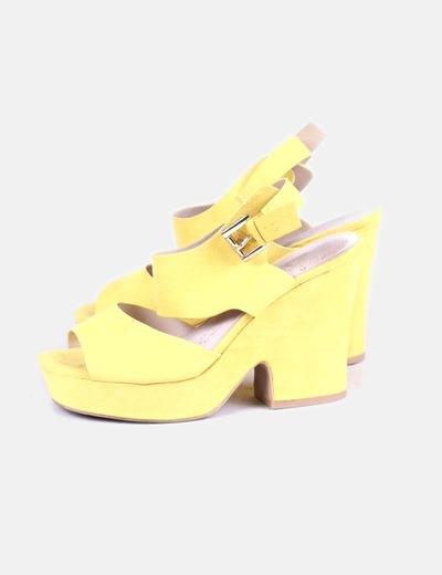 Sandalia de tacón amarilla NoName