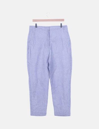 Pantalón chino de rayas