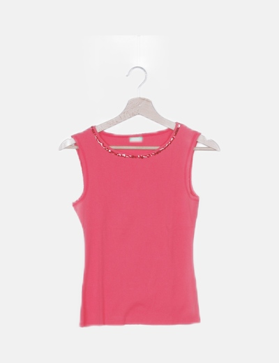 Camiseta roja paillettes