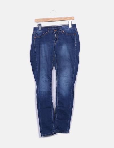 Jeans denim pitillo Mango