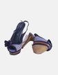 Zapatos azul jaspeado con rosetón Marypaz