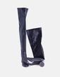 Bota alta negra tacón redondo Zara