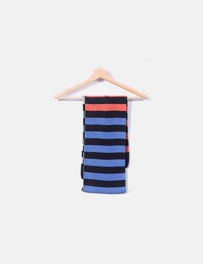 Bufanda de rayas tricolor