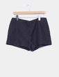 Shorts en textura negra  Zara