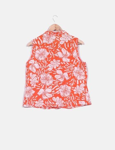 Camisa estampada bicolor