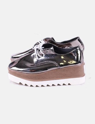 NoName Zapato plataforma plateado (descuento 54%) - Micolet 424a0ca33b8cb