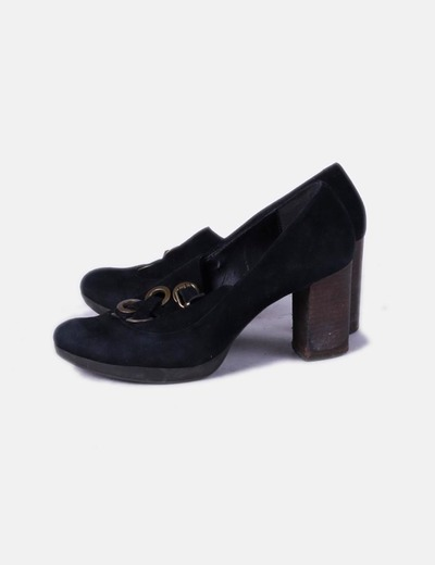 Zapatos negros de antelina lace up