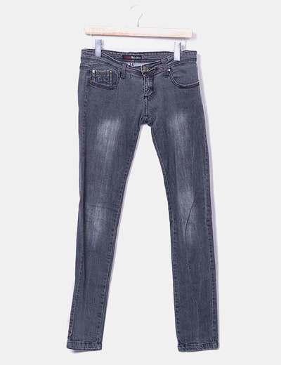 Jeans denim gris oscuro